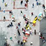 Menschen am Marienplatz