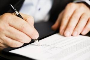 Geschäftsbrief unterschreiben