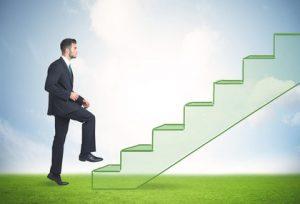 Schritte eine Treppe hinauf